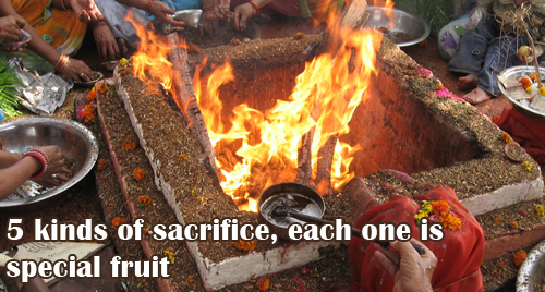 5 kinds of sacrifice, each one is special fruit
