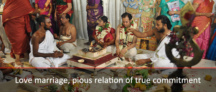 Love marriage, pious relation of true commitment